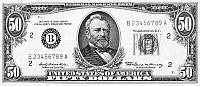 5 Dollar Bill Black and White Photographs