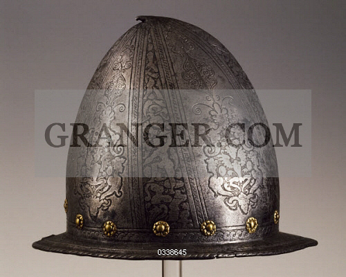 Image of HISTORY  - Bascinet (helmet) Decorated With