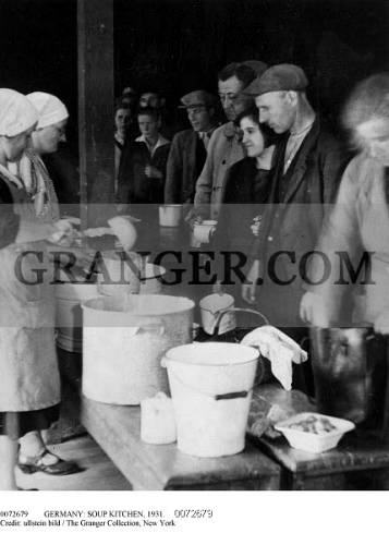 Image Of Germany Soup Kitchen 1931 Some Of The Unemployed And Their Families Receiving One Liter Of Stew Per Meal At A Soup Kitchen During The Great Depression In Germany 1931