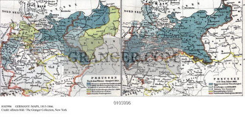 Map Of Germany 1815.Image Of Germany Maps 1815 1866 Maps Depicting The German