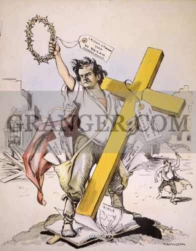 bryan s cross of gold speech vs The cross of gold speech was delivered by william jennings bryan he decried the gold standard, concluding the speech, you shall not crucify mankind upon a cross of gold bryan's address helped catapult him to the democratic party's presidential nomination.