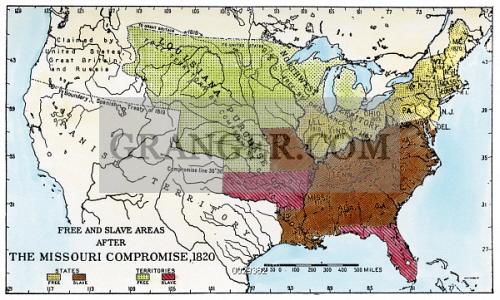 Image Of MISSOURI COMPROMISE Map Of The United States - Map of usa missouri