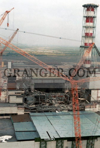 Image of CHERNOBYL, 1986  - Construction Of A Concrete