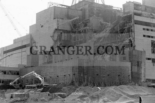 Image of CHERNOBYL, 1986  - Construction Of Sarcophagus Over